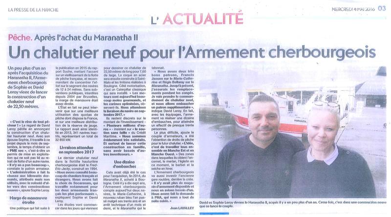 Un nouveau chalutier pour l'Armement Cherbourgeois
